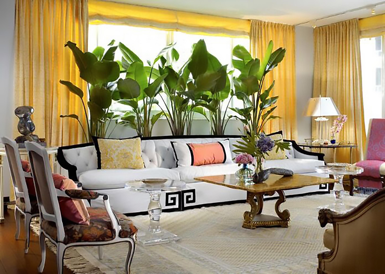 ý tưởng thiết kế nội thất phòng khách màu vàng cực đẹp