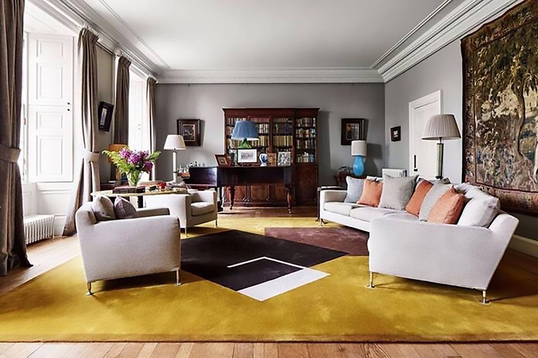 nội thất phòng khách gam màu vàng trẻ trung