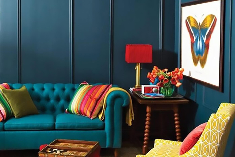 thiết kế nội thất màu vàng trần đầy năng lượng