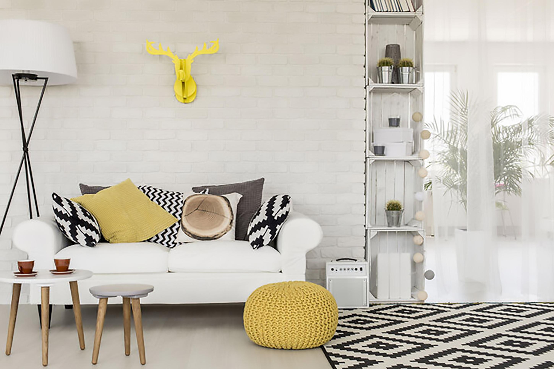 ý tưởng thiết kế nội thất phong khách màu vàng đẹp
